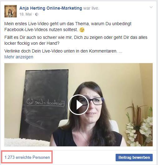 Screenshot Facebook-Live-Video